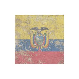 Bandera envejecida áspera del Ecuadorian del Imán De Piedra