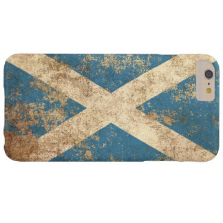 Bandera envejecida áspera del escocés del vintage funda para iPhone 6 plus barely there