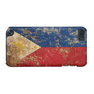 Bandera envejecida áspera del filipino del vintage funda para iPod touch 5G