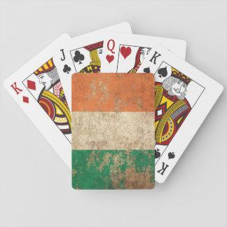 Bandera envejecida áspera del irlandés del vintage barajas de cartas