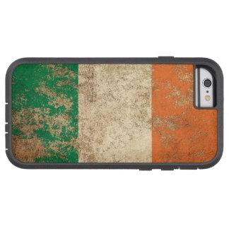 Bandera envejecida áspera del irlandés del vintage funda de iPhone 6 tough xtreme