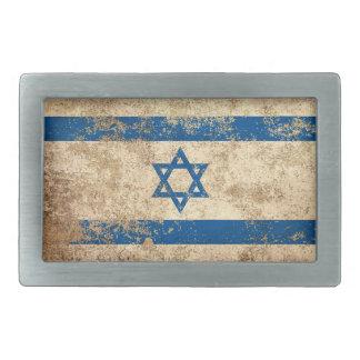 Bandera envejecida áspera del israelí del vintage hebilla de cinturon rectangular