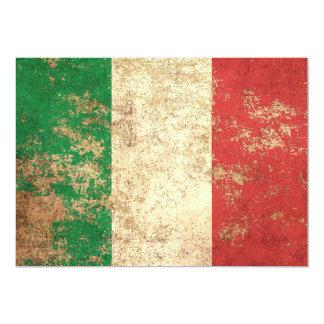 """Bandera envejecida áspera del italiano del vintage invitación 5"""" x 7"""""""