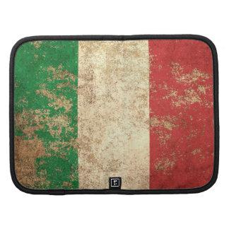 Bandera envejecida áspera del italiano del vintage planificadores