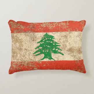 Bandera envejecida áspera del libanés del vintage