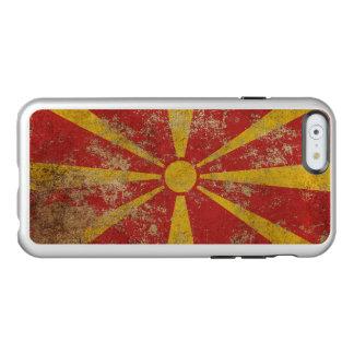 Bandera envejecida áspera del macedonio del funda para iPhone 6 plus incipio feather shine