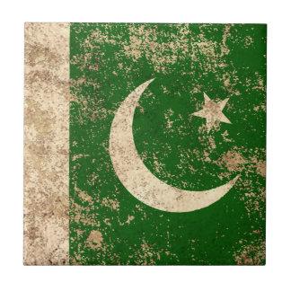 Bandera envejecida áspera del pakistaní del azulejos cerámicos