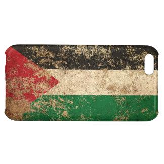 Bandera envejecida áspera del palestino del
