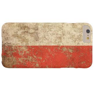 Bandera envejecida áspera del polaco del vintage funda de iPhone 6 plus barely there