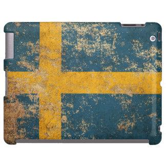 Bandera envejecida áspera del sueco del vintage funda para iPad
