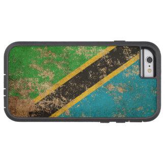 Bandera envejecida áspera del tanzano del vintage funda para  iPhone 6 tough xtreme