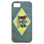 Bandera envejecida de Delaware iPhone 5 Case-Mate Funda