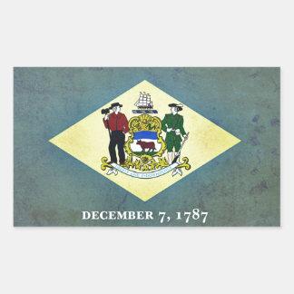 Bandera envejecida de Delaware Rectangular Altavoz