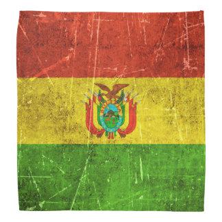 Bandera envejecida y rasguñada del vintage de bandanas