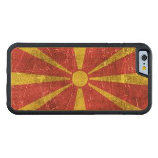 Bandera envejecida y rasguñada del vintage de funda de iPhone 6 bumper arce