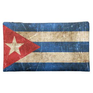 Bandera envejecida y rasguñada del vintage de Cuba