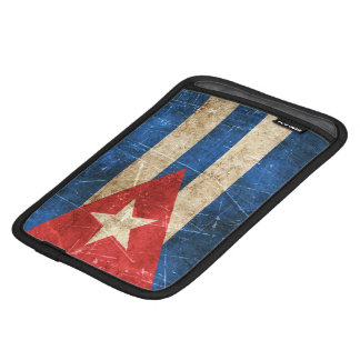 Bandera envejecida y rasguñada del vintage de Cuba Fundas De iPad Mini