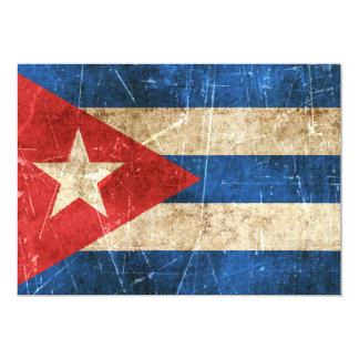 Bandera envejecida y rasguñada del vintage de Cuba Anuncio