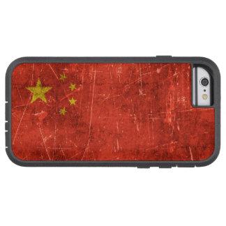 Bandera envejecida y rasguñada del vintage de funda de iPhone 6 tough xtreme