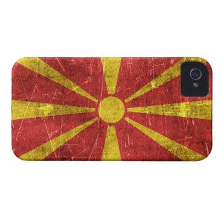 Bandera envejecida y rasguñada del vintage de iPhone 4 Case-Mate fundas