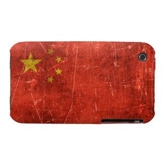 Bandera envejecida y rasguñada del vintage de iPhone 3 cobertura