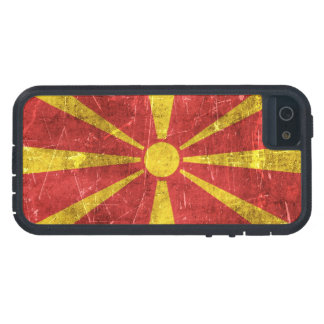 Bandera envejecida y rasguñada del vintage de iPhone 5 Case-Mate cobertura