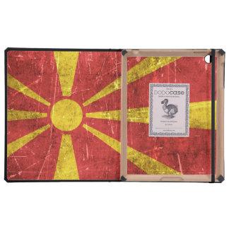 Bandera envejecida y rasguñada del vintage de iPad coberturas