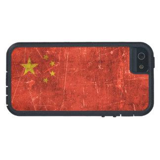 Bandera envejecida y rasguñada del vintage de iPhone 5 fundas