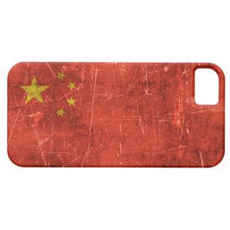 Bandera envejecida y rasguñada del vintage de iPhone 5 carcasas