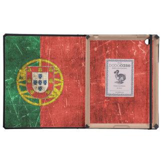 Bandera envejecida y rasguñada del vintage de iPad carcasas