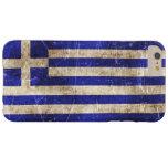 Bandera envejecida y rasguñada del vintage de funda de iPhone 6 plus barely there