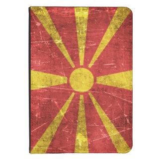 Bandera envejecida y rasguñada del vintage de funda para kindle 4