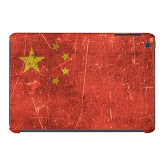 Bandera envejecida y rasguñada del vintage de fundas de iPad mini retina