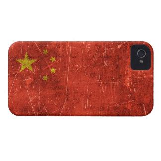 Bandera envejecida y rasguñada del vintage de iPhone 4 cobertura