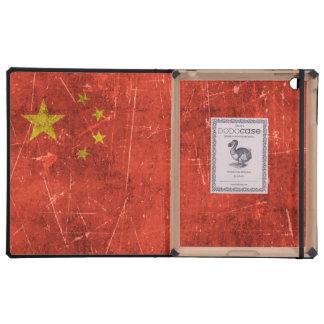 Bandera envejecida y rasguñada del vintage de iPad fundas