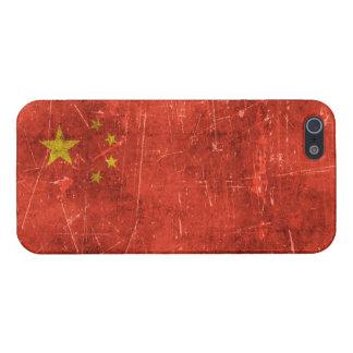 Bandera envejecida y rasguñada del vintage de iPhone 5 carcasa