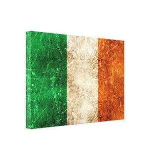 Bandera envejecida y rasguñada del vintage de impresiones en lona