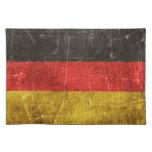 Bandera envejecida y rasguñada del vintage de manteles individuales