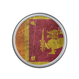 Bandera envejecida y rasguñada del vintage de Sri Altavoz