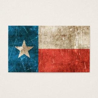 Bandera envejecida y rasguñada del vintage de tarjetas de visita