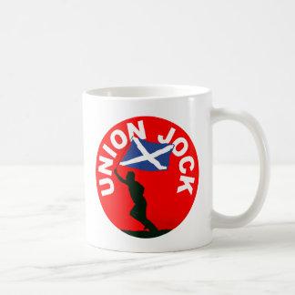 """Bandera escocesa, """"atleta de la unión """" taza de café"""