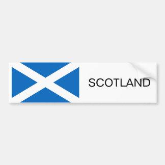 Bandera escocesa pegatina para coche