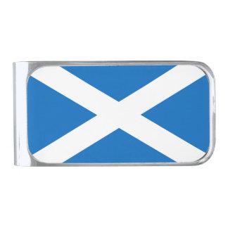 Bandera escocesa de la cruz de Escocia St Andrew Clip Para Billetes Plateado
