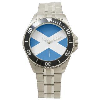 Bandera escocesa de la cruz de Escocia St Andrew Relojes De Mano