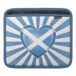 Bandera escocesa del corazón con la explosión de l fundas para iPads