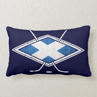 Bandera escocesa del hockey sobre hielo almohadas