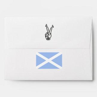 Bandera escocesa del signo de la paz de la sobre
