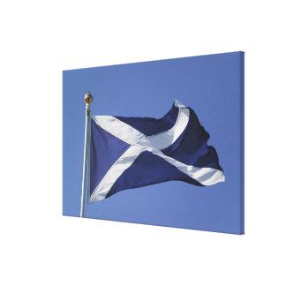 Bandera escocesa impresiones en lona estiradas