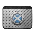 Bandera escocesa industrial con el gráfico de acer