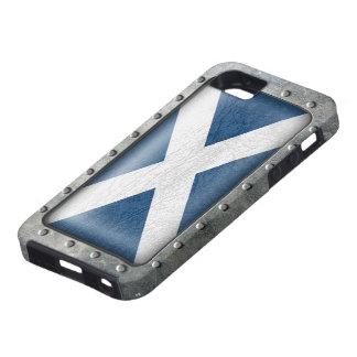 Bandera escocesa industrial iPhone 5 carcasas